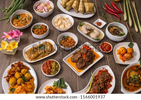 Indonesian famous food - Padang cuisines #1166001937