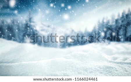 Winter background of snow and frost with free space for your decoration.  #1166024461