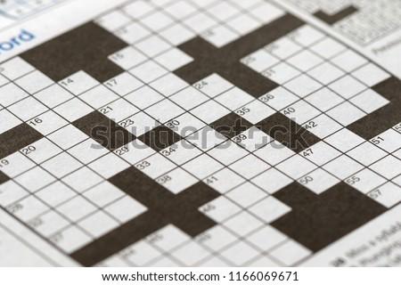 The blank crossword closeup #1166069671