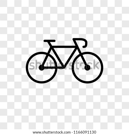 Bicycle vector icon isolated on transparent background, Bicycle logo concept