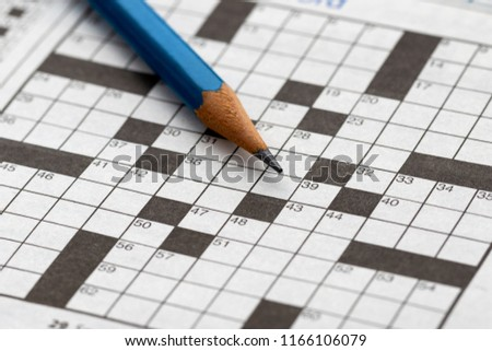 Crossword Puzzle with pencil #1166106079