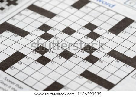 The blank crossword closeup #1166399935
