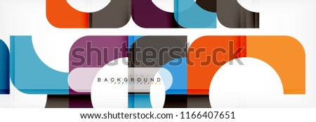 Color square shapes, geometric modern abstract background. Vector illustration #1166407651