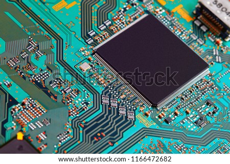 Electronic circuit board close up. #1166472682