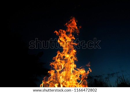 a hot burning fire #1166472802