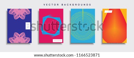 Vector cover designs. Future Poster template. Smartphone modern background set. #1166523871