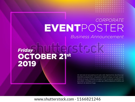 Abstract Vector Dynamic Background. Futuristic Poster for Corporate Meeting, Online Courses, Master Class, Webinar, Business Event Announcement, Seminar, Presentation, Lecture, Business Convention. Royalty-Free Stock Photo #1166821246