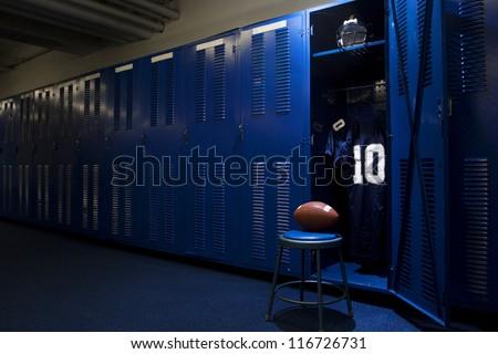 Football Locker Room Royalty-Free Stock Photo #116726731