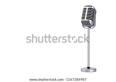 Retro microphone isolated on white background #1167286987