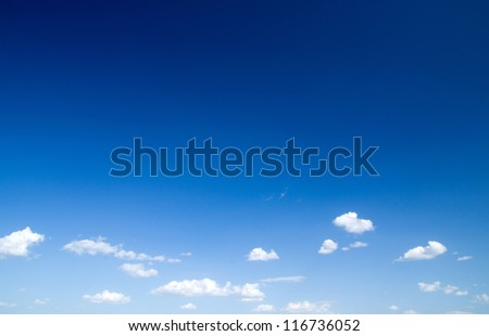 blue sky with clouds closeup Royalty-Free Stock Photo #116736052