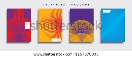 Vector cover designs. Future Poster template. Smartphone modern background set. #1167370033