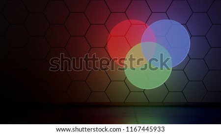 Venn Diagram Glow Royalty-Free Stock Photo #1167445933