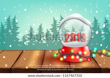 Snow ball.2019.vector illustration #1167467350