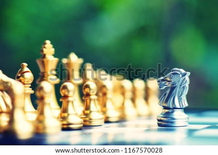 Chess board game, business competitive concept, strategy concept Royalty-Free Stock Photo #1167570028