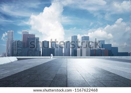 China's modern city financial center Royalty-Free Stock Photo #1167622468