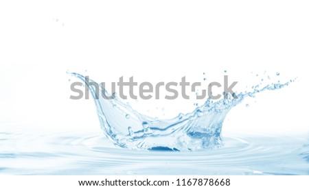 Water splash,water splash isolated on white background,water  #1167878668