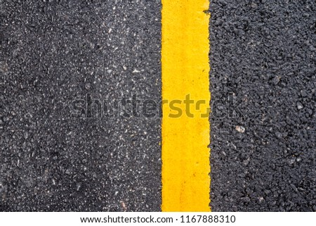 Asphalt road surface with yellow line #1167888310