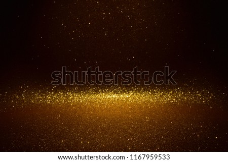 glitter vintage lights texture. gold abstract background