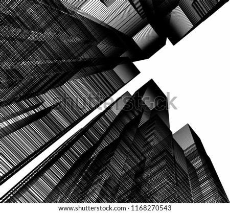 abstract architecture 3d #1168270543