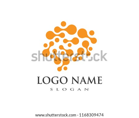 Brain Logo vector icon Template  #1168309474