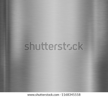 Metal plate texture background with brushed steel surface #1168345558