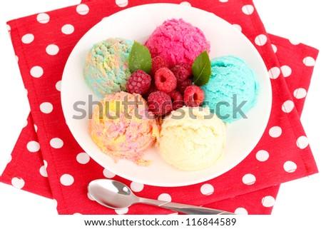 delicious ice cream close-up #116844589