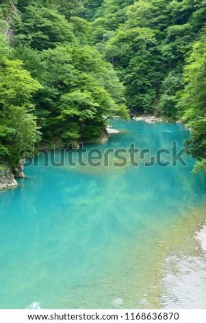 Mountain stream.This place is Dakigaeri gorge.Tazawa Senboku Akita Japan.The middle of July. #1168636870