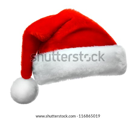 Santa Claus red hat isolated on white background #116865019