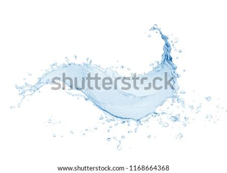 Water splash,water splash isolated on white background,blue water splash,water,  #1168664368