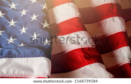 American flag background for edit your design. #1168739584