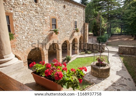 Carpegna, Italy -  August 15 2018: the Romanesque church of San Giovanni Battista -1182-(detail) #1168937758