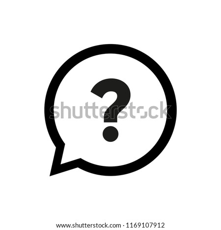 Question Mark in Bubble Icon Vector Royalty-Free Stock Photo #1169107912