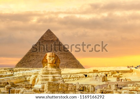 The Sphinx and Pyramid ,Cairo,Egypt #1169166292