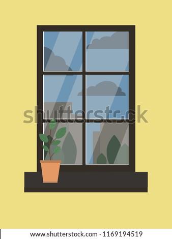 cozy house window #1169194519