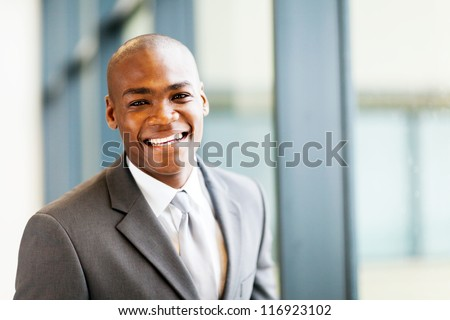 smart african american businessman in office #116923102