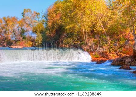 Amazing view of Manavgat waterfall - Antalya, Turkey #1169238649