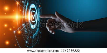 Standard Quality Control Certification Assurance Guarantee Internet Business Technology Concept. #1169239222