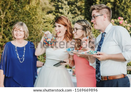 Vancouver, Canada - Circa 2018. People having fun at a wedding. #1169669896