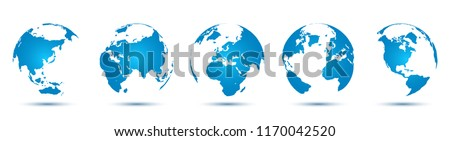 3D Globes with World Maps - for stock