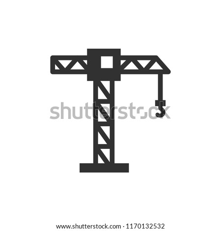Construction crane. monochrome icon Royalty-Free Stock Photo #1170132532
