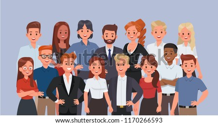 Business people working in office character vector design.