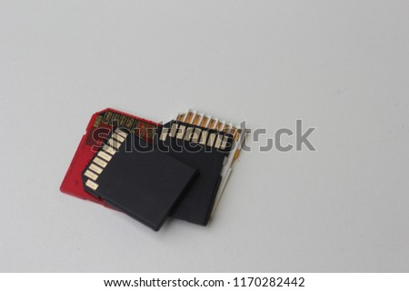 small disk memory card for camera and laptop to store data. the new technology to stores data. #1170282442