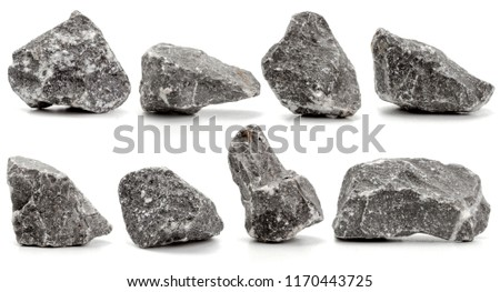 collection of stones isolated on white background.close up #1170443725