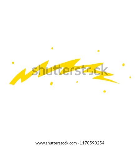 flat color illustration cartoon lightning bolt #1170590254