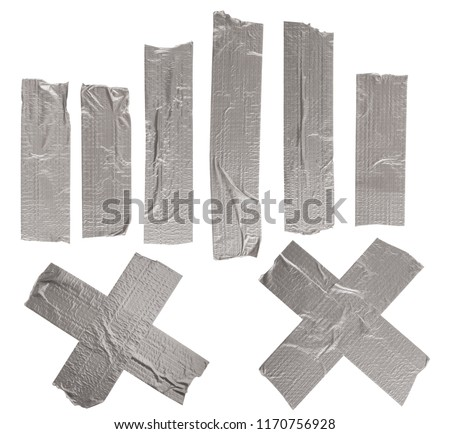 Set of adhesive tapes isolated on white background #1170756928