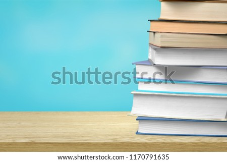 A pile of class books or back to school #1170791635