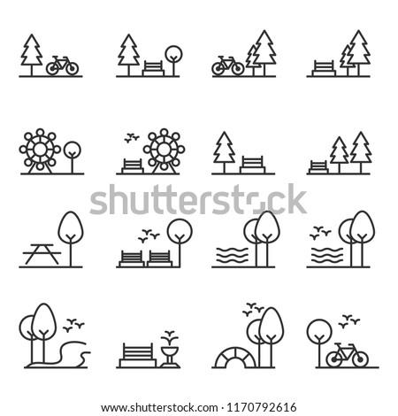 park icon vector Royalty-Free Stock Photo #1170792616