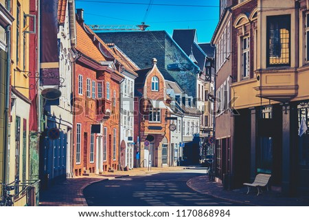 Beautiful Streets of the Old City. Odense, Denmark. #1170868984