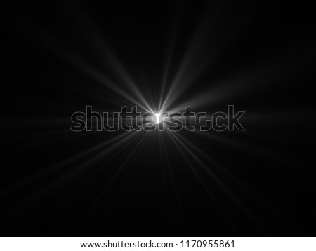 White light effect on a black background illustration. #1170955861