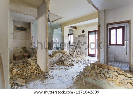 Interior photography. Apartment not renovated, room before renovation Royalty-Free Stock Photo #1171042609